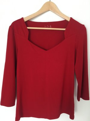 1.2.3 Paris Camisa rojo Viscosa