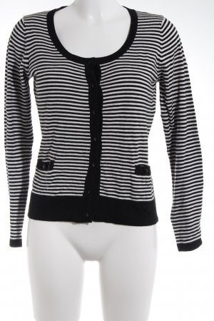 1.2.3 Paris Strickjacke schwarz-weiß Casual-Look