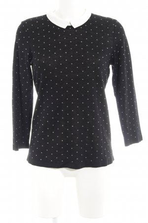 1.2.3 Paris Knitted Sweater black-white spot pattern casual look