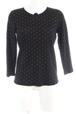 1.2.3 Paris Strickpullover schwarz-weiß Punktemuster Casual-Look