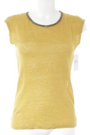 1.2.3 Paris T-Shirt dunkelgelb Elegant