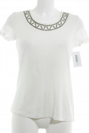 1.2.3 Paris Camiseta blanco puro look casual