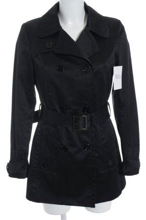 1.2.3 Paris Trenchcoat schwarz Business-Look