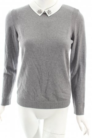 1-2-3 Paris Wollpullover grau Eleganz-Look