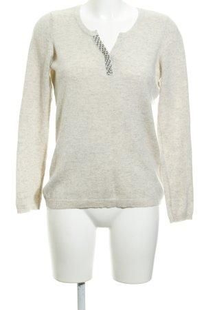 1.2.3 Paris Pull en laine beige clair moucheté style d'affaires