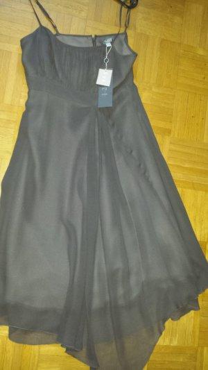1.2.3 Paris Chiffon Dress anthracite-dark grey silk