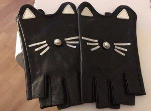 Karl Lagerfeld Guantes con dedos negro-blanco