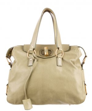 1.500€ Orig. YSL Yves Saint Laurent Rive Gauche Bag Muse ivory creme Handtasche