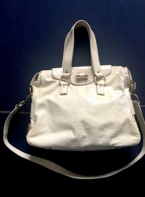 1.590€ Orig. YSL Yves Saint Laurent Rive Gauche Bag Messenger Muse creme Leder Handtasche cross body