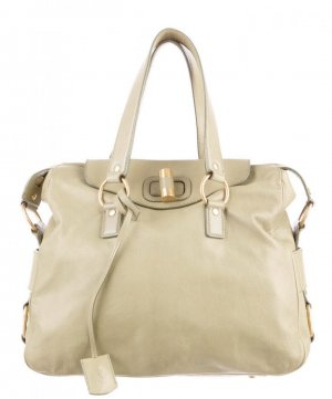 1.590€ Orig. YSL Yves Saint Laurent Rive Gauche Messenger Bag Muse creme Leder Handtasche cross body