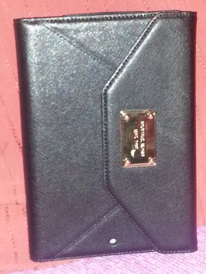 1/6  MICHAEL KORS 8412B9 Clutch For Apple IPAD Saffiano Leather Black NWT
