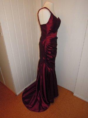 1 Träger  Kleid One Shoulder Taft rot Schleppe Mermaid Meerjungfrau Gr. 32 34