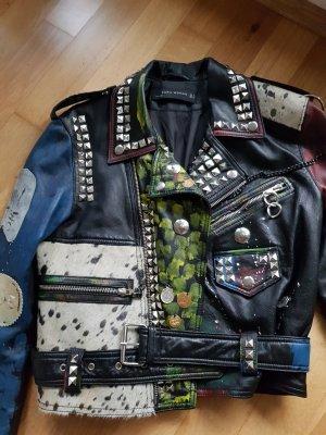 1 x getragen: außergewöhnliche Lederjacke von ZARA in Gr. S