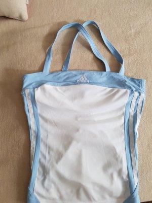 Adidas Sporttop wit-lichtblauw Polyester