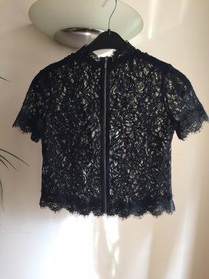 Zara Trafaluc Top de encaje negro