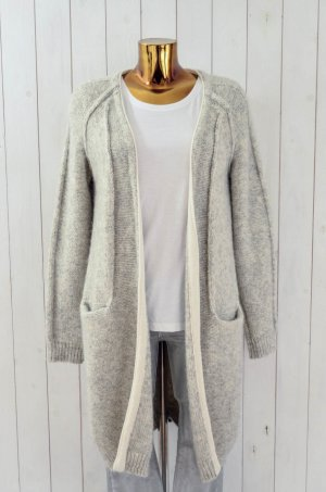 10 Days Knitted Coat light grey-natural white alpaca wool