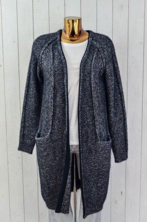 10 Days Cappotto a maglia nero-grigio scuro Lana d'alpaca