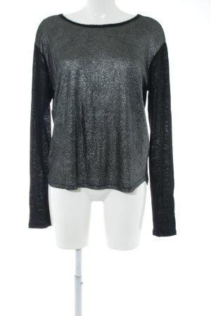 10 Days Manica lunga nero-grigio chiaro stile casual