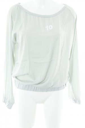 10 Days Longsleeve sage green-white casual look
