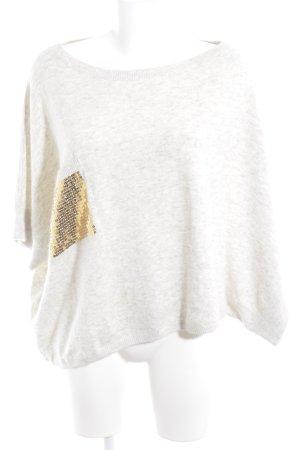 10 Days Maglione oversize bianco sporco-oro stile casual