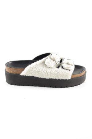 10 Days Sandalo con plateau nero-bianco sporco stile casual