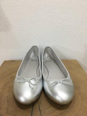 10 Euro-Super Angebot-Letzter Preis!!!Silber Leder Ballerinas von INOZZI!