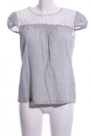 10 FEET Camicetta a maniche corte grigio chiaro-bianco stampa integrale