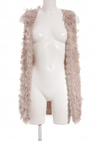 10 FEET Longstrickweste rosé-creme Street-Fashion-Look