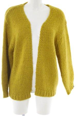 10 FEET Cardigan in maglia giallo pallido stile casual