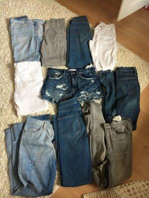 10 paar High waist Hosen