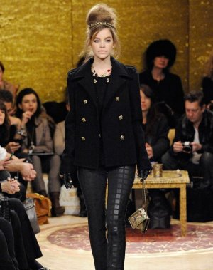 100% AUTHENTIC Chanel runway Leder Hose