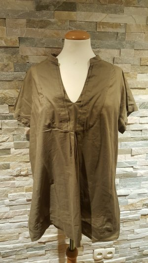 Basefield Blouse olive green cotton