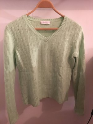 100% Cashmere Pulli von Nice Connection Hellgrün Gr. 36