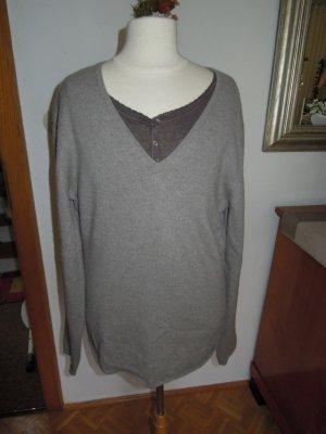 100% Cashmere Pullover Graubraun Gr. 40 NEU