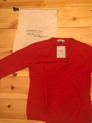 100% Cashmere Pullover in Rot