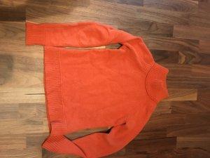 100% cashmere Pullover orange Gr S Stegkragen