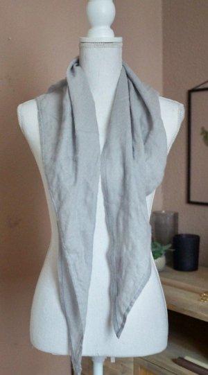 Fazzoletto da collo grigio chiaro Cachemire
