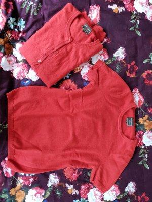 Cashmere Jersey de lana rojo