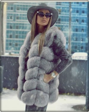 100% Echt Pelz Fell Weste Luxus Coat Moderne Jacke