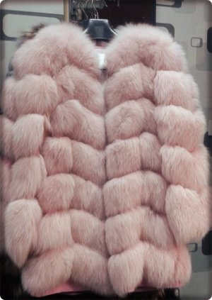 Giacca di pelliccia rosa Pelliccia