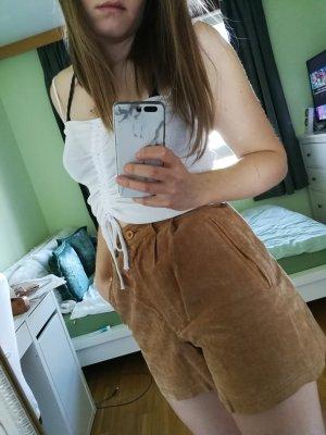 Shorts marrone chiaro Pelle