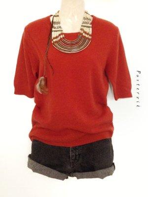 100% Kaschmir / Cashmere Pullover Pulli Orange Herbst Blogger Basic Cozy Winter