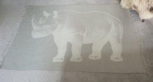 Bufanda de cachemir gris claro