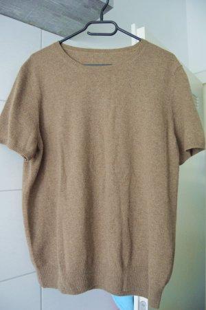 100% kaschmir Pullover gr.46 hellbraun