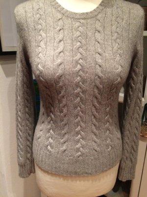 100% Kaschmir Pullover,in silber/metallic