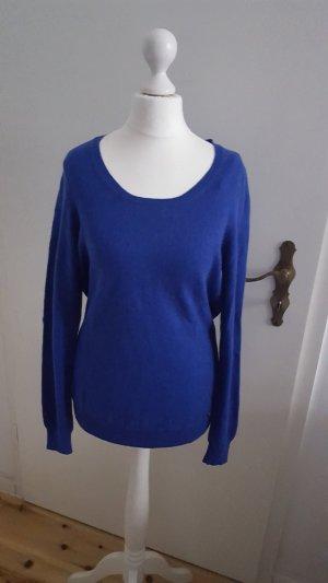100% Kaschmir Pullover leuchtend blau