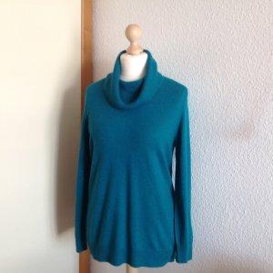 100% Kaschmir Pullover mit lockeren Kragen