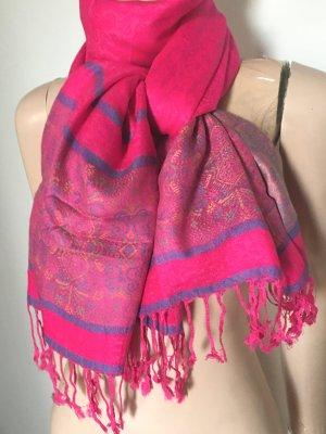 100% Kaschmir...Schal...Tuch...pink wie neu
