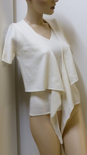 Madeleine Knitted Twin Set natural white cashmere