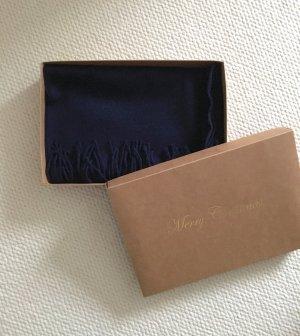 Écharpe en laine bleu foncé laine